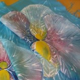 ''Аромат на орхидеи''7-Шал ръчно рисуван