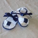 Бебешки плетени сандалки