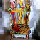 Ръчно декориран стол-5