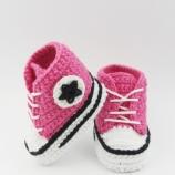 Плетени бебе маратонки Конверс, Розови бебе маратонки