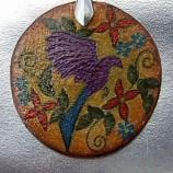 Ръчно изрисуван керамичен медальон
