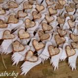 Ангелско сърце от покълваща хартия