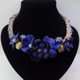 Колие Кралско сини цветя