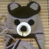 Детска шапка <Мече> и ръкавички
