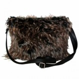 Shaggy Clutch Bag wh - brown