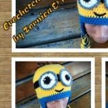 Плетена шапка Миньон