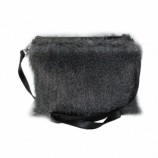 Shaggy Clutch Bag wh - grey