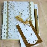 Романтични  тефтерчета с ръчна хартия и химикал