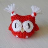 Мартеница брошка Бухал - детски мартеници играчки