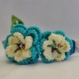 Очарователна диадема Плетени цветя Специален подарък