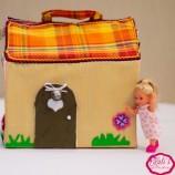 Преносима къща за кукли от плат