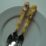 Персонализирани Ръчно декорирани детски прибори за хранене