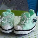 Плетени бебешки кецки