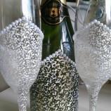 Комплект ритуални чаши с шампанско.