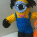 Плетени кукли играчки Миньоните с мечето Тим и китара