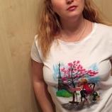 Ръчно рисувана тениска C'est la vie