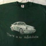 Ръчно рисувана тениска с Ретро автомобил Porsce 911 Carrera