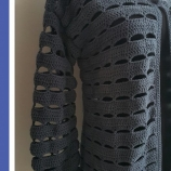 Дамска плетена жилетка със 7/8 ръкав