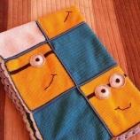 Плетено детско одеялце