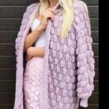 Плетена дамска жилетка