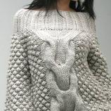 Плетен пуловер с плетеница