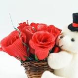 Мече с рози