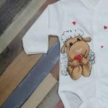 Ръчно рисувано бебешко боди