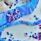 Ленти за коса с кристали Сваровски и мъниста