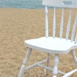 Стол столове винтидж бял
