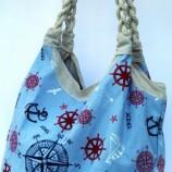 Плажна чанта с корабни въжета