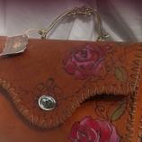 Дамска кожена чанта ''VINTAGE ROSES''