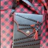 Кожена чанта ''Black&Red''