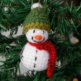 Играчка за елха Плетен снежен човек