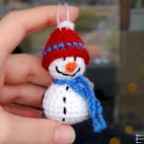 Орнамент Снежен човек - Декорация за Коледа и Нова година