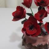 Мини ваза с макове