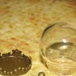 Стъклена сфера 20/15мм бронз