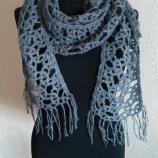 Плетен сив шал
