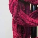 Ръчно плетен кръгъл шал