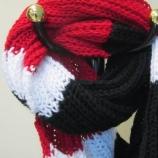Кръгъл ръчно плетен шал