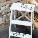 Кухн стълба 3 стъпала бяло маслини