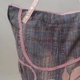 Ръчно изработена розова дънкова чанта