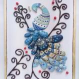Картина с камъни Синьо мълчание