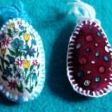 Текстилни Великденски яйчица