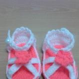 Бебешки/детски плетени сандалки