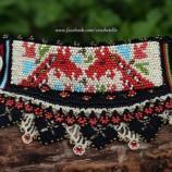 Две кончета - плетен маншет с мотив от българска шевица