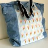 Уникална дънкова чанта