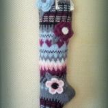 Пъстри дълги плетени чорапи
