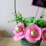 Бонбонена кошничка с цветя