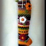 Ефектни ръчно плетени чорапи