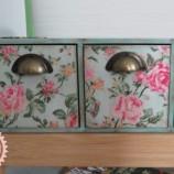 Кутия - мини скрин с рози